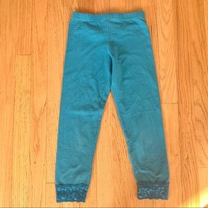 Blue  legging with lace detail
